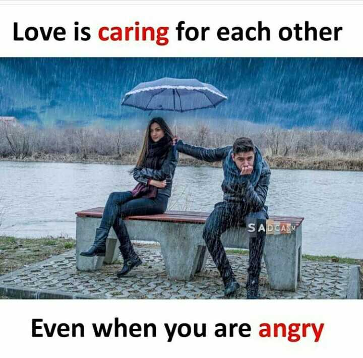 alone is good - Love is caring for each other SADCASM Even when you are angry - ShareChat