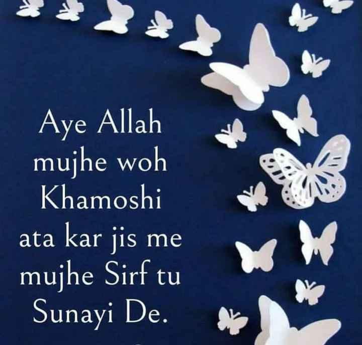 🌸🌸ameen🌸🌸 - Aye Allah mujhe woh Khamoshi ata kar jis me mujhe Sirf tu Sunayi De . - ShareChat