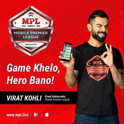 apps - MIL PLAY . COURT WIN MOBILE PREMIER LEAGUE www . live MPL LEAGUE Game Khelo , Hero Bano ! VIRAT KOHLI Mobile Premier League www . mpl . live - ShareChat