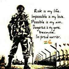 👮army ❤lovers👍 - Risk is my life Impossible is my love Possible is my aim Dangerous mygarre . because I ' m proud warrior . - ShareChat