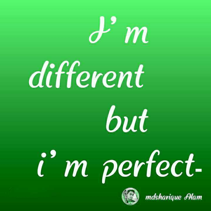 attitude😋😋 - d ' m different but i ' m perfect @ mdsharique filam mdsharique Alam - ShareChat