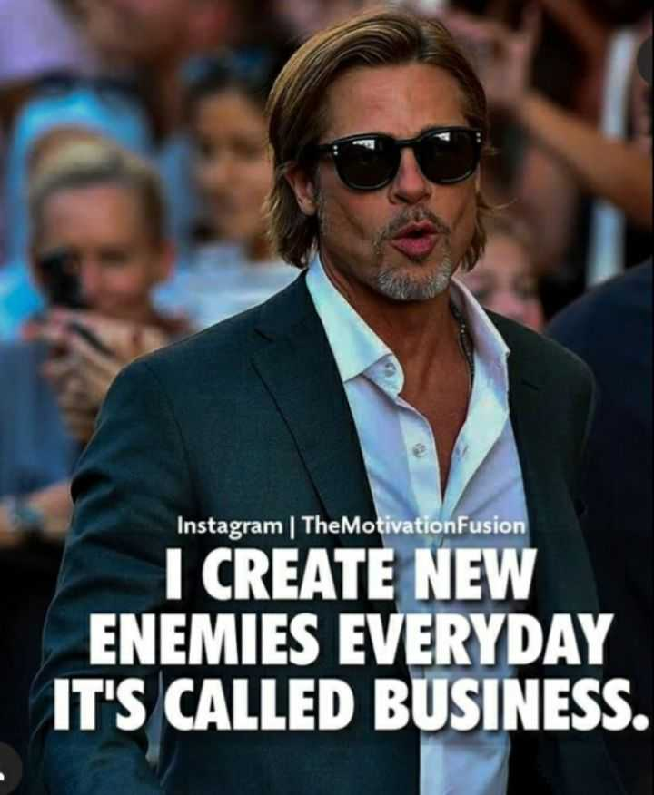 attitude lover's attitude - Instagram | TheMotivation Fusion I CREATE NEW ENEMIES EVERYDAY IT ' S CALLED BUSINESS . - ShareChat