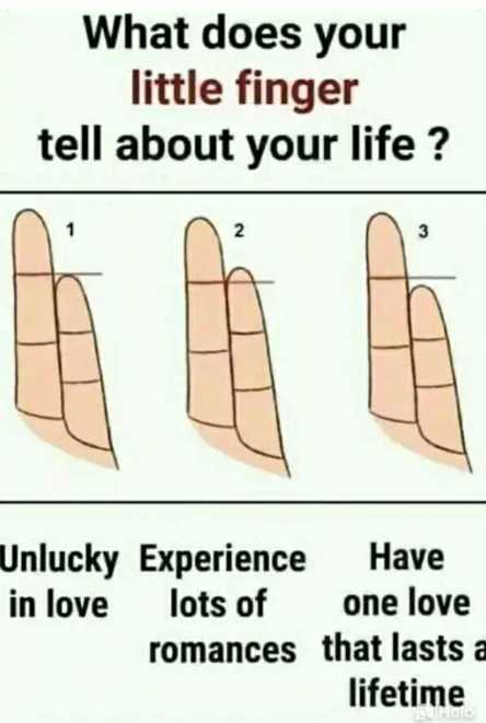 😍 awww... 🥰😘❤️ - What does your little finger tell about your life ? Unlucky Experience Have in love lots of one love romances that lasts a lifetime - ShareChat