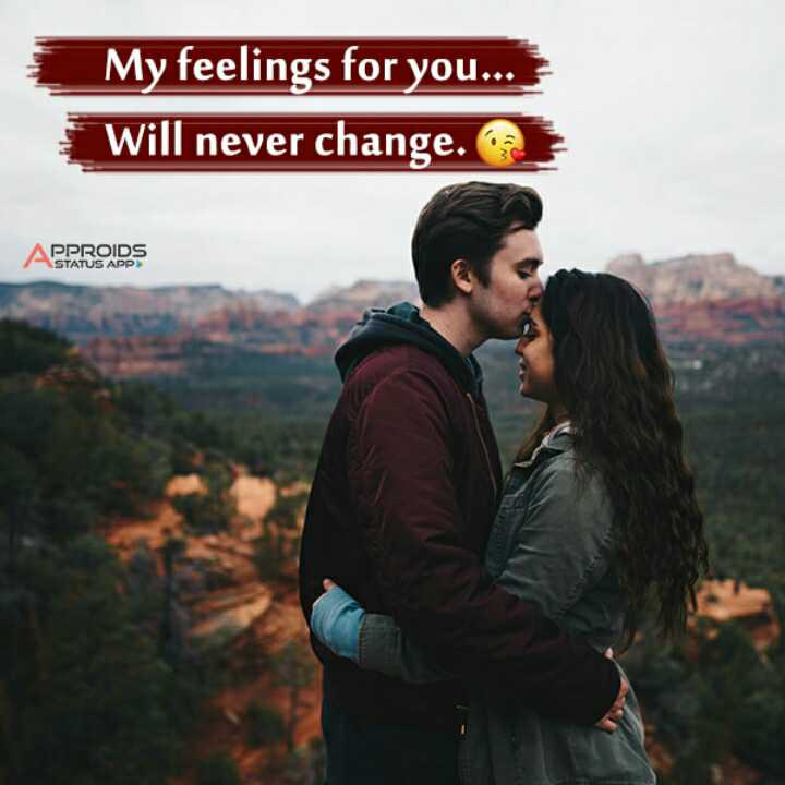 😍 awww... 🥰😘❤️ - My feelings for you . . . Will never change . APPROIDS - ShareChat