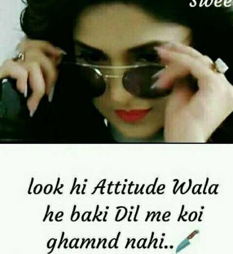 😍 awww... 🥰😘❤️ - swee look hi Attitude Wala he baki Dil me koi ghamnd nahi . . - ShareChat
