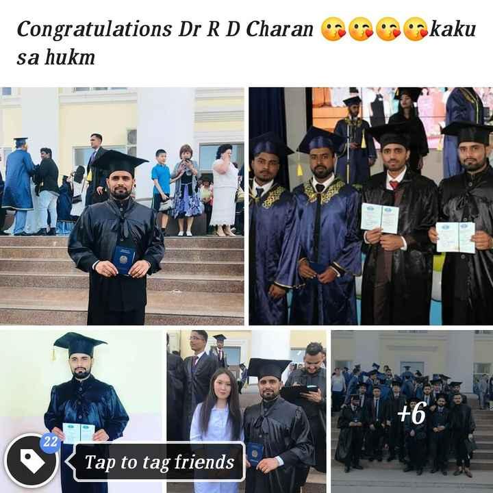 😍 awww... 🥰😘❤️ - Congratulations Dr R D Charan sa hukm okaku BBO 22 Tap to tag friends - ShareChat