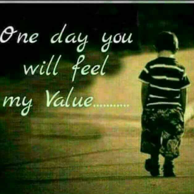 😍 awww... 🥰😘❤️ - One day you will feel 1 my Value . . . . - ShareChat
