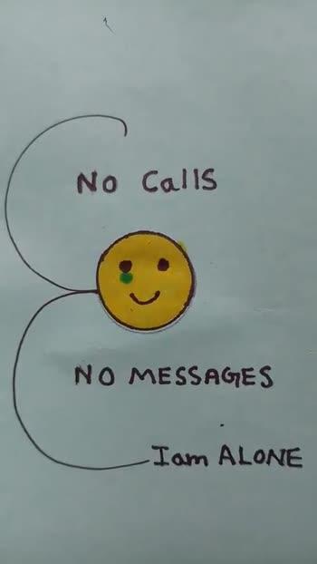 ✌️నేటి నా స్టేటస్ - No Calls NO MESSAGES - I am ALONE No Calls NO MESSAGES Iam ALONE - ShareChat