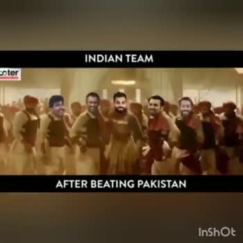 ఇండియా గెలుపు - INDIAN TEAM pter AFTER BEATING PAKISTAN InShot INDIAN TEAM ster AFTER BEATING PAKISTAN InShot - ShareChat