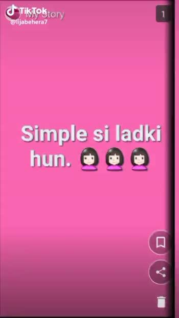 swag🤘 - My Story Na kisi se a au darrti hun 9 Tik Tok @ lijabehera7 My Story Dimag khati hun . . . . 33 Tik Tok @ lijabehera7 - ShareChat