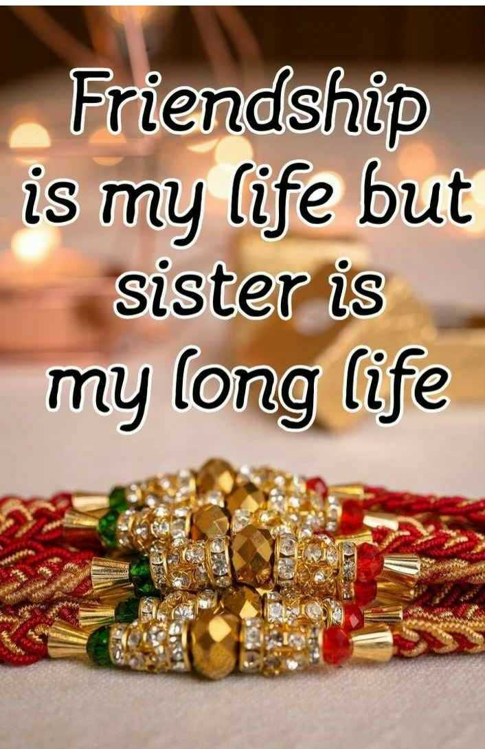 bahin bhau - Friendship is my life but sister is my long life - ShareChat
