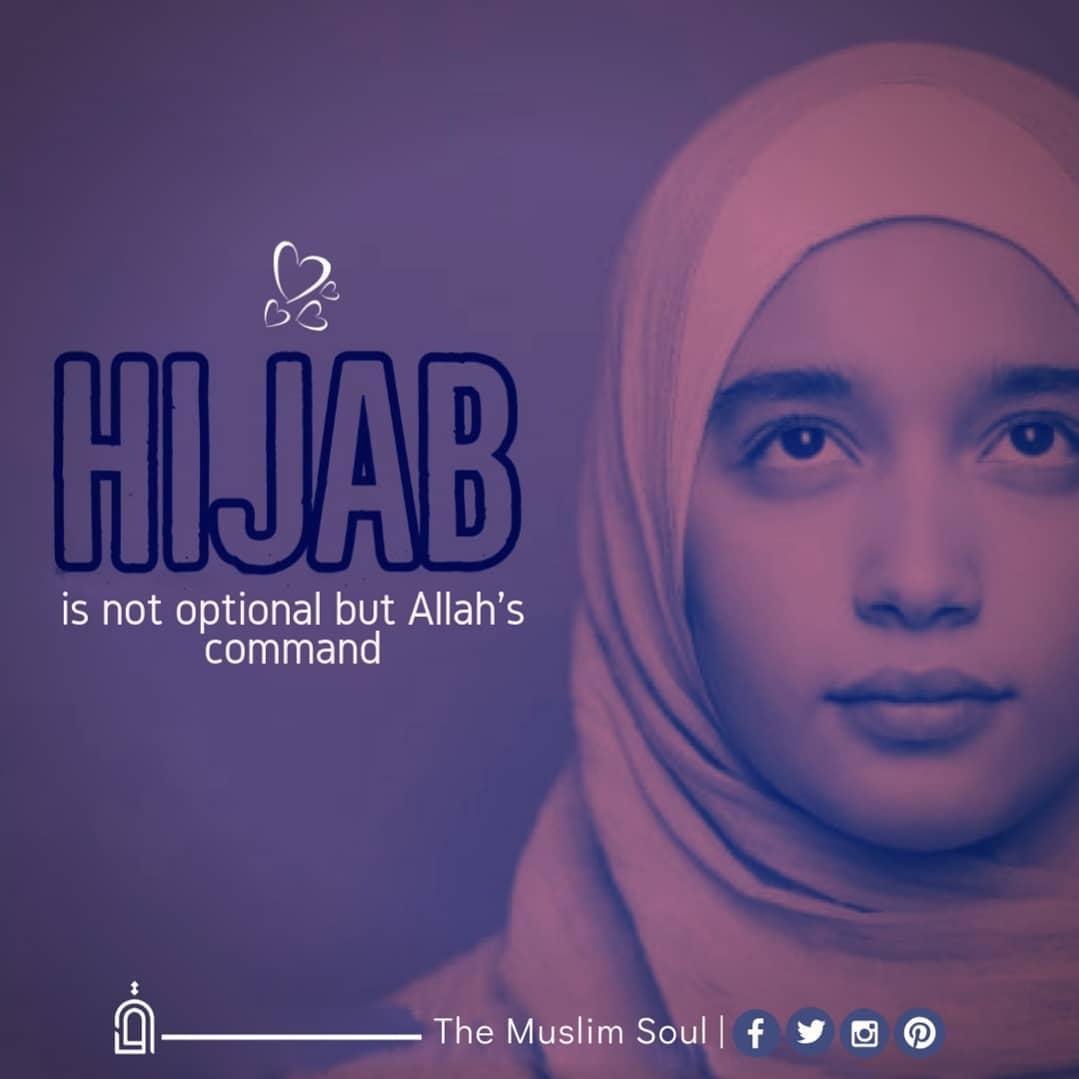 🧕 പര്ദ്ദ & ഹിജാബ് - is not optional but Allah ' s command - The Muslim Soull fyon - ShareChat