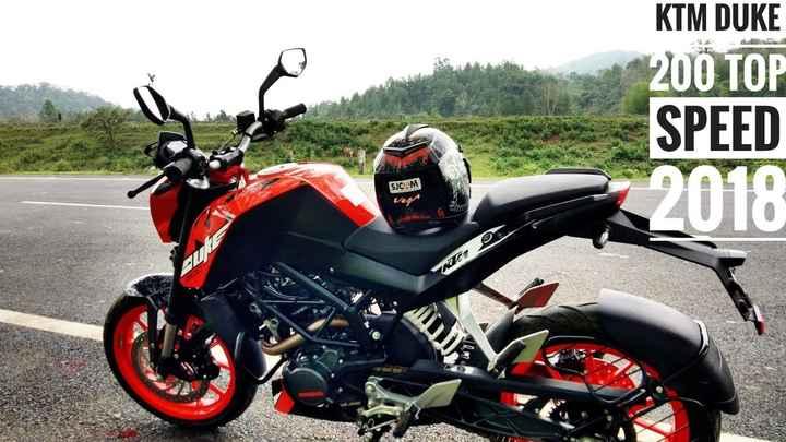 bike - KTM DUKE 200 TOP SPEED 2018 SJCAM O KZE - ShareChat