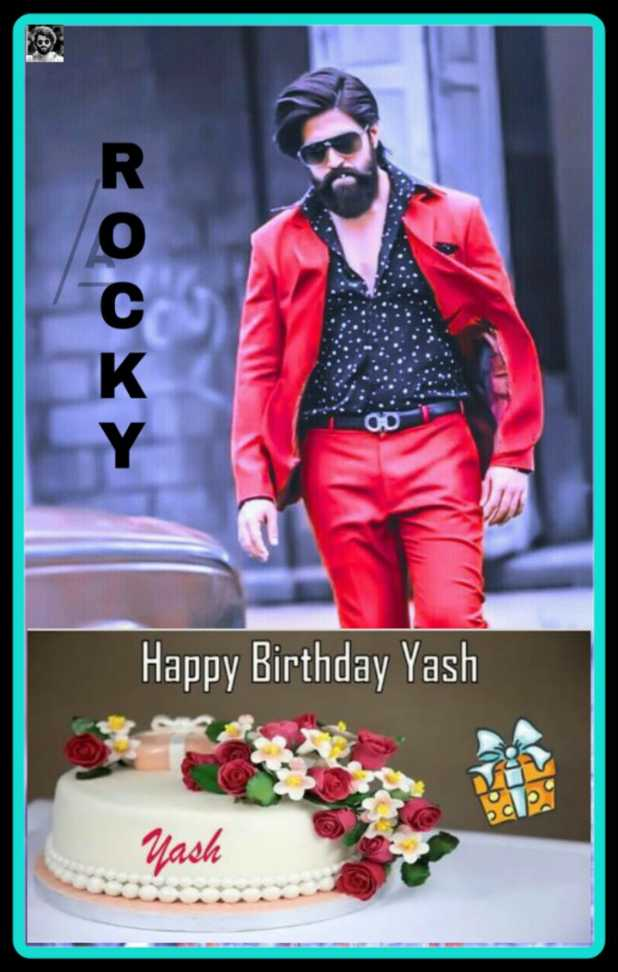 birthday celebrations - ROOY > Happy Birthday Yash Yash - ShareChat
