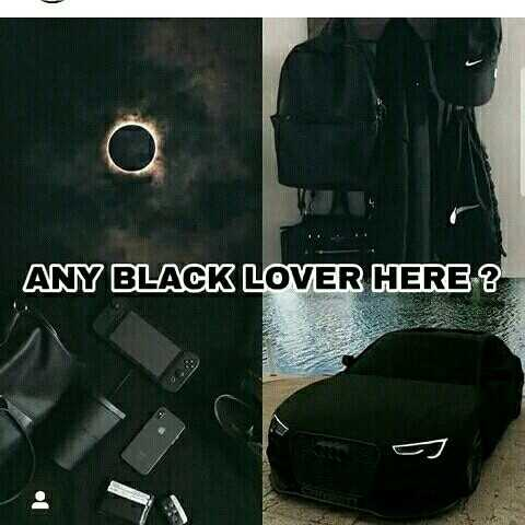 black fashion - ANY BLACK LOVER HERE ? os - ShareChat