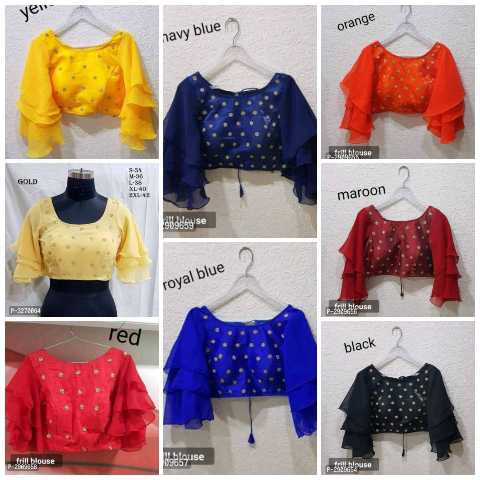 blouse  designs. .. - yen orange navy blue All Blouse GOLD maroon នមeag / se royal blue P - 527266 blouse red black blouse louse - ShareChat