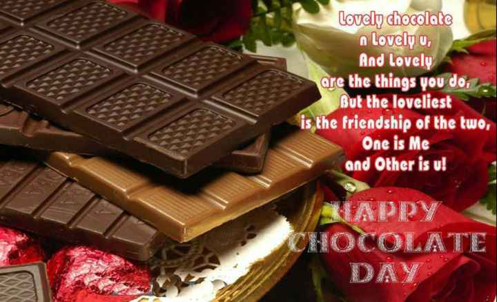 👬 boy's love👬 - Lovely chocolate n lovely u , And Lovely are the things you do , But the loveliest is the friendship of the two , One is Me and Other is u ! KAPPY CHOCOLATE DAY - ShareChat