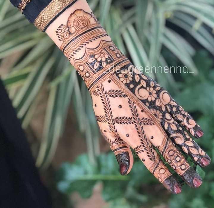 👰🏼 bridal designs - MITTEL greenhenna - ShareChat