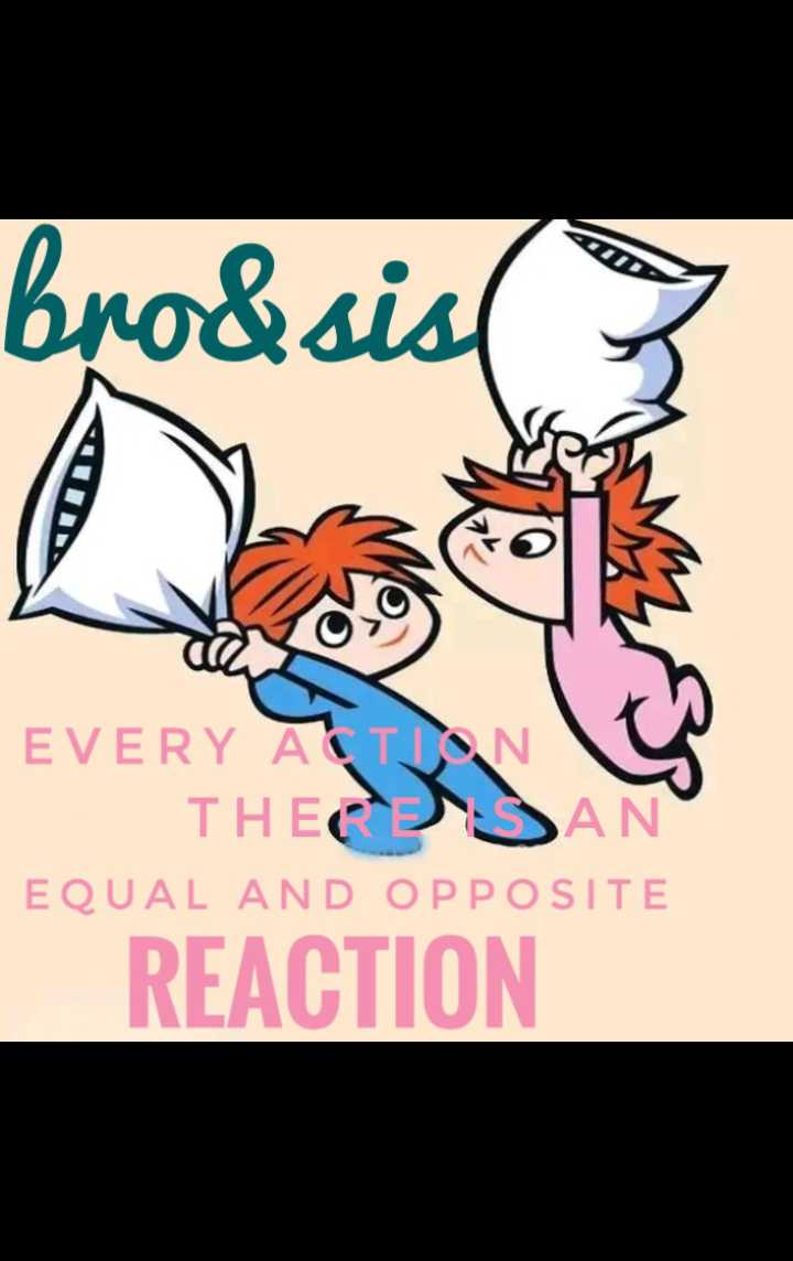 brother love..❣️ - bro & sis 3 EVERY ACTION THE SAN EQUAL AND OPPOSITE REACTION - ShareChat