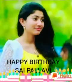 ಸಾಯಿ ಪಲ್ಲವಿ ಹುಟ್ಟುಹಬ್ಬ - HAPPY BIRTHDAY SAI PALAV Juelo HAPPY BIRTHDAY SAI PALLAVI - ShareChat