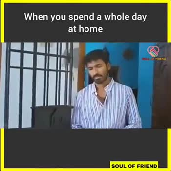 . #VIP - When you spend a whole day at home SOUL OF FRIEND SOUL OF FRIEND When you spend a whole day at home SOUL OF FRIEND SOUL OF FRIEND - ShareChat