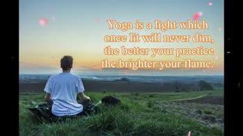 """ಅಂತಾರಾಷ್ಟ್ರೀಯ ಯೋಗ ದಿನಾಚರಣೆ - Yoga is invigoration in relaxation . Freedom in routine . Confidence through self - control . Energy within and energy without . """" Happy International oga Day - ShareChat"""