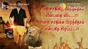 வீர தமிழன் - Youtube / A to Z Tamil Status Posted On : போஸ்ட் செய்தவர் : @ yssam என்ன நடந்திரிழBhat எதை இழந்தாலும் சோர்ந்து போக மாட்டேன் - ShareChat