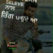 punjabi lyrics status - SER ਰੱਖਦਾ official Rajan13 Instagram - ShareChat