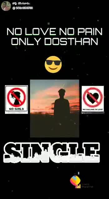 i'm single - పోస్ట్ చేసినవారు : estar NO LOVE NO PAIN ONLY DOSTHAN NO GIRLS NO FALLING LOVE SINGIS పోన్ చేసినవారు : @ san . NO LOVE NO PAIN ONLY DOSTHAN NO GIRLS NO FALLING IN LOVE SINGLE Fosted De ShareChat Sharechal - ShareChat