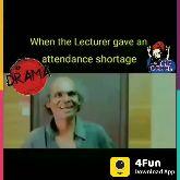 👩🏫Teacher-Student Jokes - When the Lecturer gave an mon attendance shortage THE REBEL DRAMA 4Fun Download App When the Lecturer gave an , attendance shortage ste THE REBEL DRAMA 4Fun Download App - ShareChat
