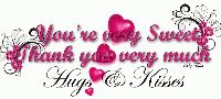 रोमांटिक SMS - Vou ' re usey Sweet Thank you very much Hugs Kisses U - ShareChat