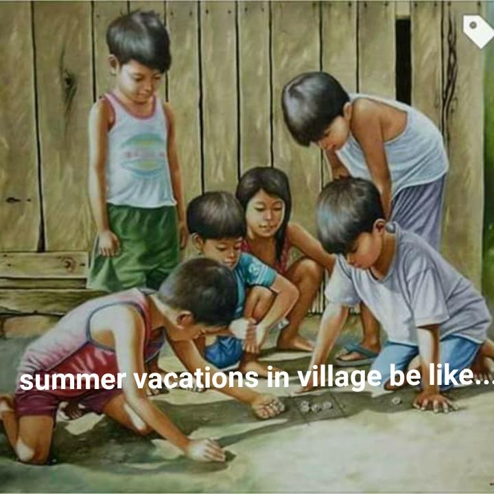 ಬಾಲ್ಯದ ಬೇಸಿಗೆ ರಜೆ - summer vacations in village be like . . . - ShareChat