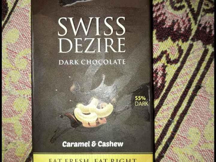 chocolate lovers 😘😍🍫👯 - SWISS DEZIRE DARK CHOCOLATE 55 % DARK Caramel & Cashew FAT FRESH FAT RIGHT - ShareChat
