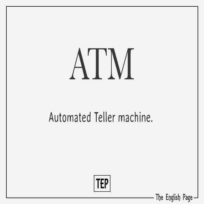 computer - ATM Automated Teller machine . The English Page - ShareChat