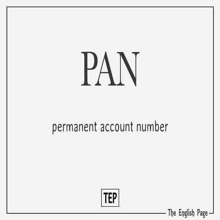 computer knowledge - PAN permanent account number The English Page - ShareChat