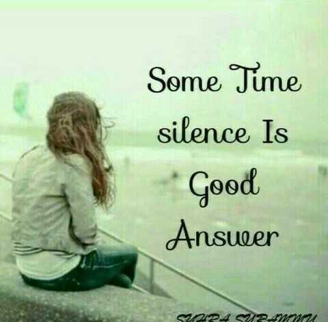 correct thaaa... - Some Time silence Is Good Answeer SOPA SVETU - ShareChat