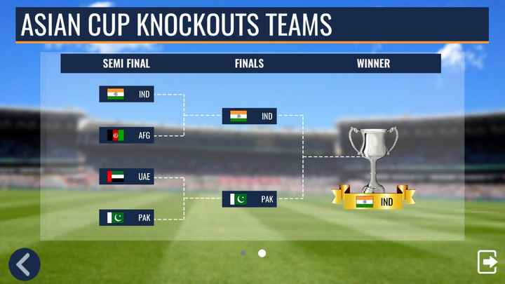 cricket - ASIAN CUP KNOCKOUTS TEAMS SEMI FINAL FINALS WINNER a IND IND @ AFG - - - - - UAE с РАК IND Тc РАК - ShareChat