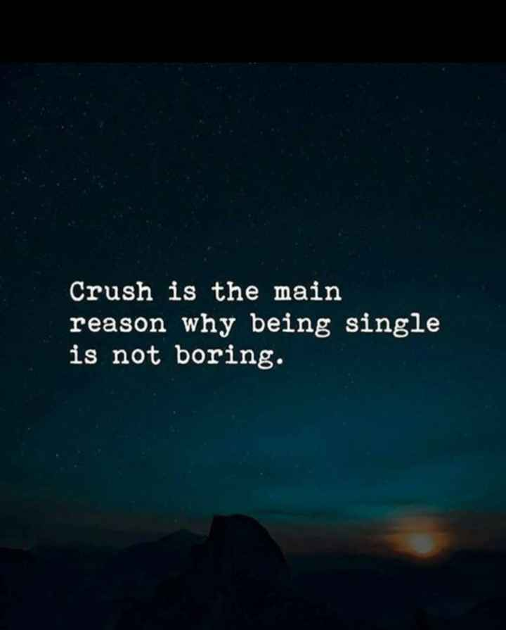 crush - Crush is the main reason why being single is not boring . - ShareChat