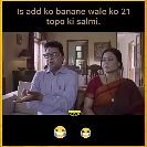 Aj - ' Is add ko banane wale ko 21 topo ki salmi . ' Is add ko banane wale ko 21 topo ki salmi . - ShareChat