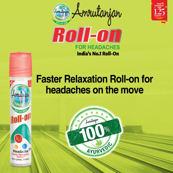 medical - PAIN SPECIALIST • FOR YEARS ICOPA ve Amutanjan Roll - on FOR HEADACHES India ' s No . 1 Roll - On Faster Relaxation Roll - on for headaches on the move Amulanian PICK OUT PAS Roll - ON Amutanjon 100 % AYURVE Headache Faster Relaxation Roll - on Non - greasy solution VEDIC - ShareChat