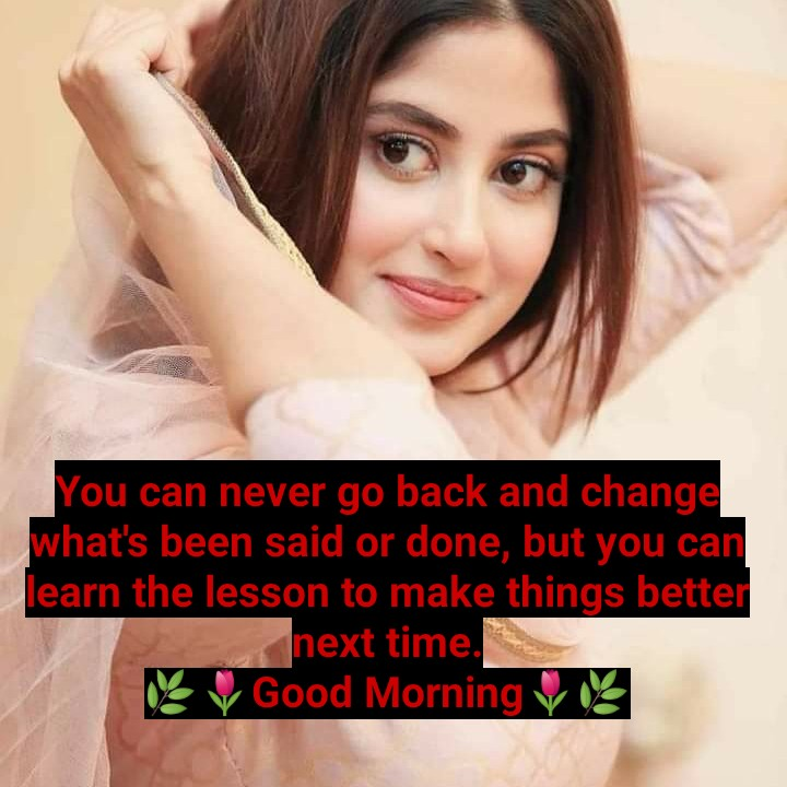 🌄सुप्रभात - You can never go back and change what ' s been said or done , but you can learn the lesson to make things better next time . Good Morning us - ShareChat
