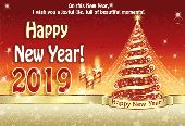 🎉Happy New Year - On this New Year , I wish you a joyful life , full of beautiful moments ! Happy * New Year ! 2019 Happy New Year ! - ShareChat