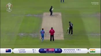 সেমিফাইনাল - ইন্ডিয়া vs নিউজিল্যান্ড 🏏 - Hostar # BeAShot CWC19 орро ker D O SAN İNTELLIGENT MOBIUTY NISSAN INTELLIGENT MODUI 10 10 00 LATHAM SANTNER IND NZ 225 - 6 P3 48 RUN RATE 4 . 69 WAR 1 - 36 BHUVNESHWAR 1 - 369 000000 To follow Cricket on Duta : Add to your group : + 14157996152 - ShareChat