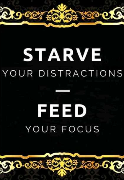 deep - Doner రాలకు STARVE YOUR DISTRACTIONS FEED YOUR FOCUS MOVN Secare o - ShareChat