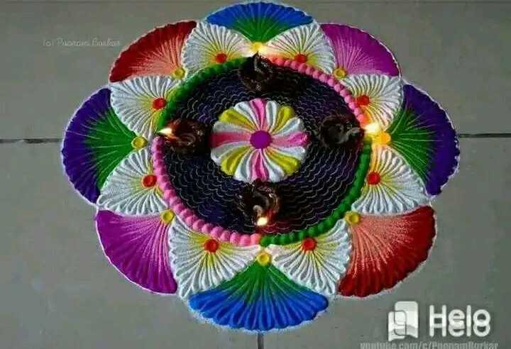 diwali best rangoli  😍 - lol Peace Boules Hele com / c / Puontitutkar - ShareChat