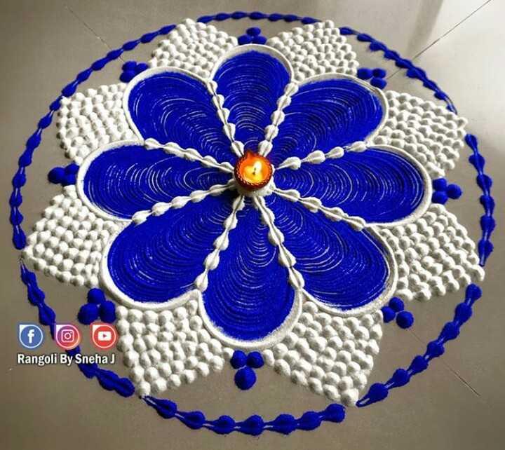 diwali best rangoli  😍 - Rangoli By Sneha ! - ShareChat