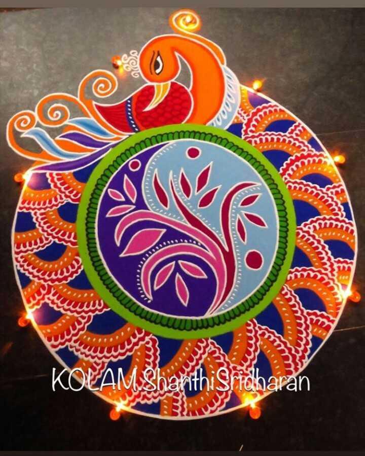 diwali best rangoli  😍 - www mm UU www WWW www mm KOEAM Sharithi Sridharan - ShareChat