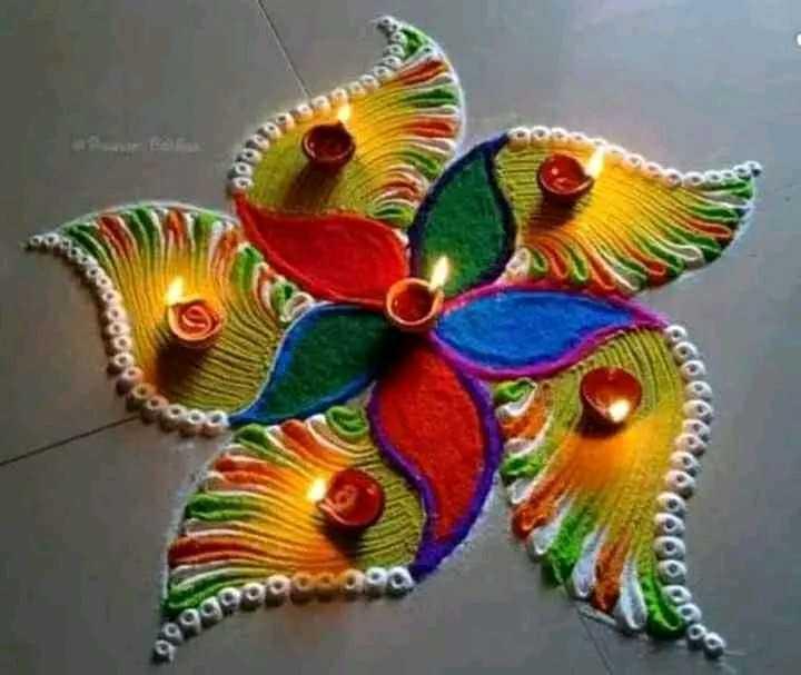 diwali best rangoli  😍 - 0CUL 100 8099990 - ShareChat