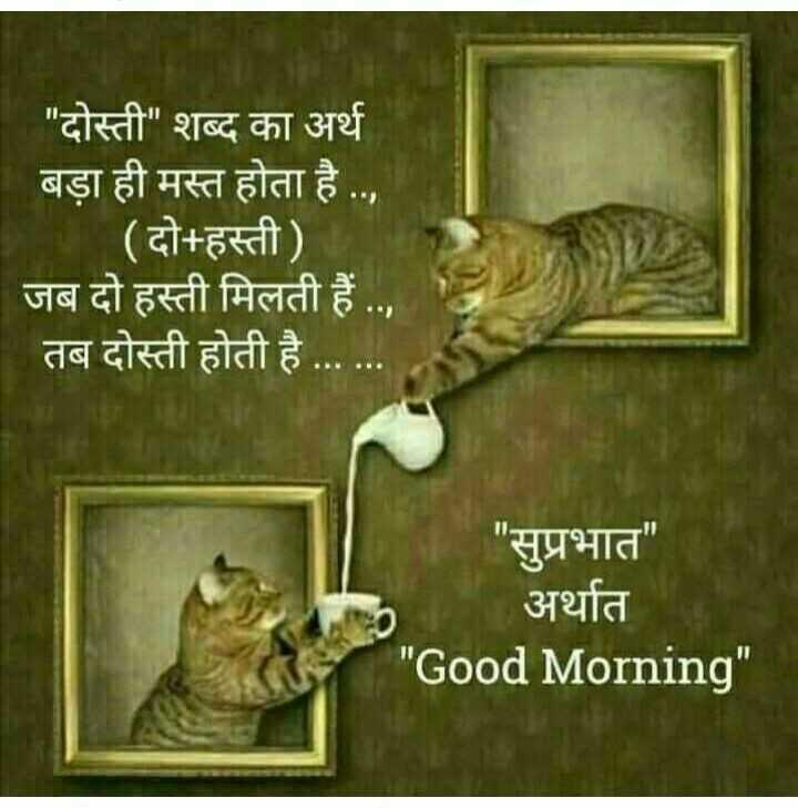 #dosti# - दोस्ती शब्द का अर्थ बड़ा ही मस्त होता है . . , ( दो + हस्ती ) जब दो हस्ती मिलती हैं . . , तब दोस्ती होती है . . . सुप्रभात अर्थात Good Morning - ShareChat