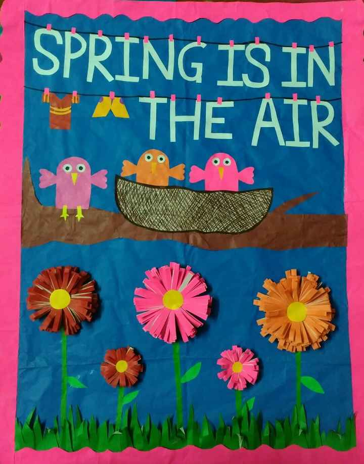 🎨 drawing - SPRING IS IN ' A THE AIR - ShareChat